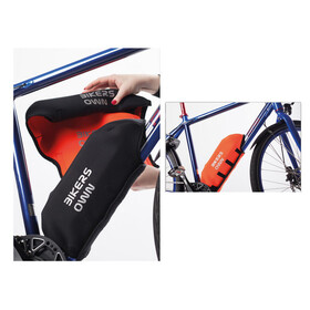 BIKERSOWN Protezione batteria a telaio Protezione parti per Bosch Powerpack 300/400 arancione/nero